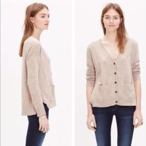 Madewell landscape cardigan sweater in brown/tan